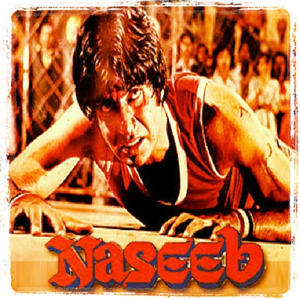 Amitabh Bachchan on the Naseeb movie poster