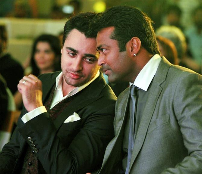 Leander Paes and Imran Khan
