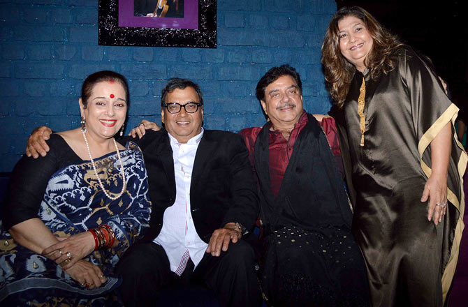 Poonam and Shatrughan Sinha, Mukta and Subhash Ghai