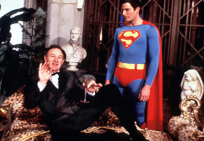 Gene Hackman and Christopher Reeves in Superman