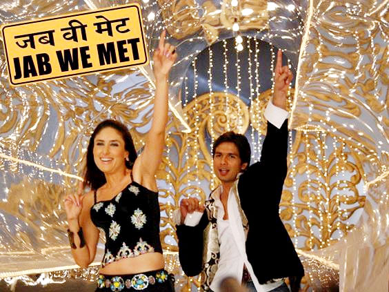 Kareena Kapoor in Shahid Kapoor in Jab We Met