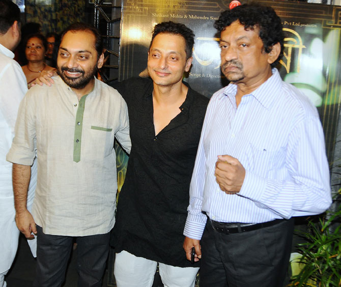 Anindya Chatterjee, Sujoy Ghosh and filmmaker Goutam Ghose.
