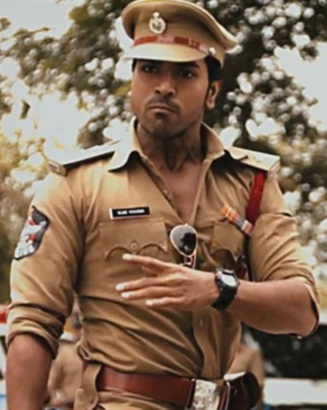 Ram Charan as supercop Vijay Khanna in Zanjeer