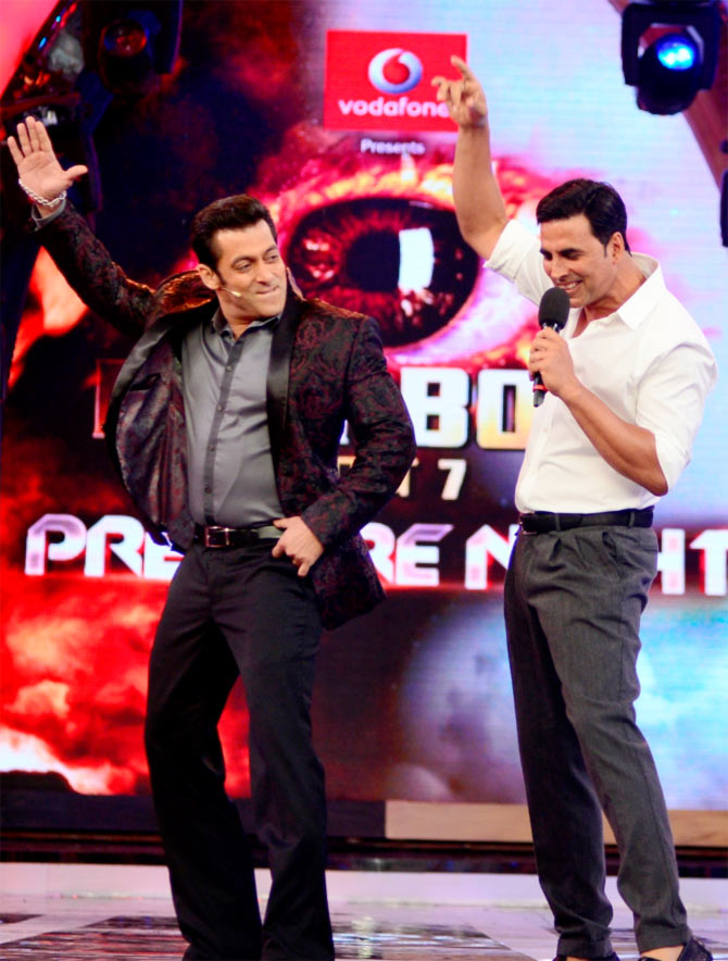 Salman Khan and Akhsya Kumar on Bigg Boss 7