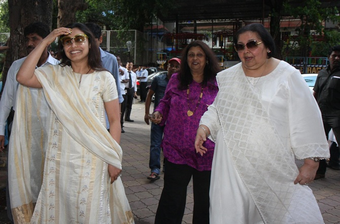 Rani Mukerji and Pamela Chopra