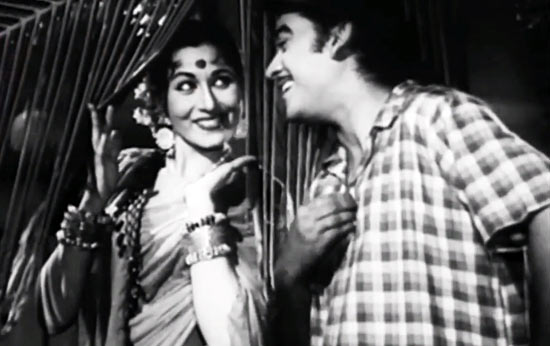 Madhubala and Kishore Kumar in Half Ticket