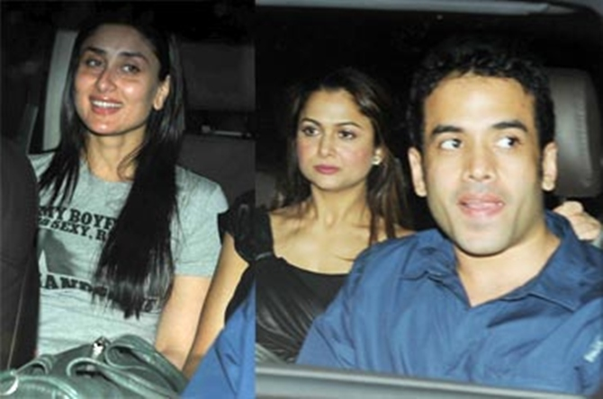 Kareena Kapoor with friends Amrita Arora and Tusshar Kapoor