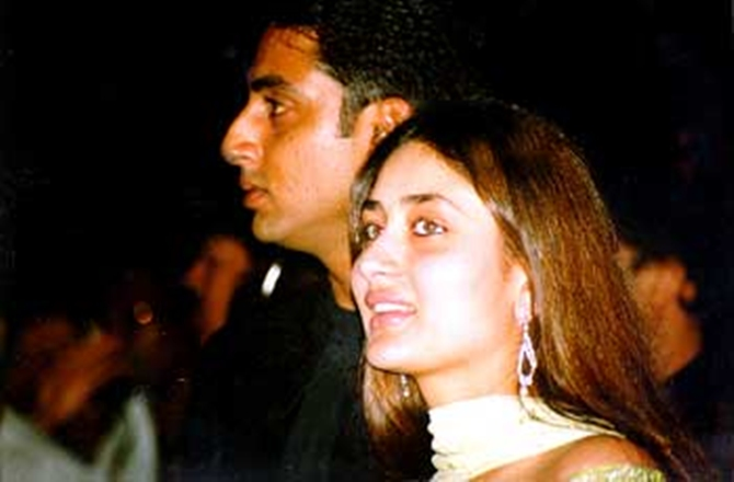 Kareena Kapoor with Refugee costar Abhishek Bachchan