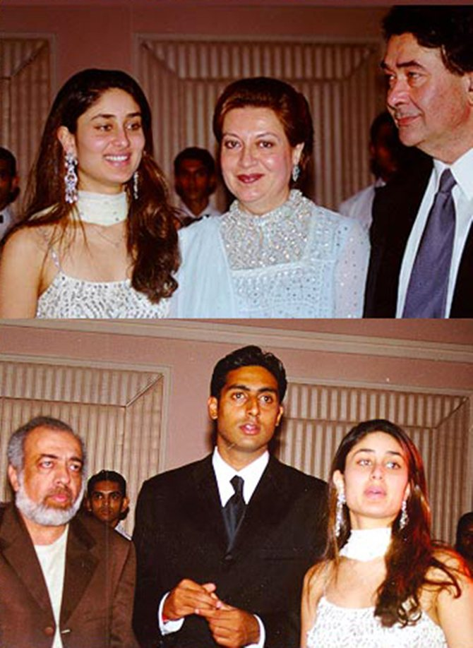 Kareena Kapoor with parents Babita and Randhir Kapoor and director JP Dutta