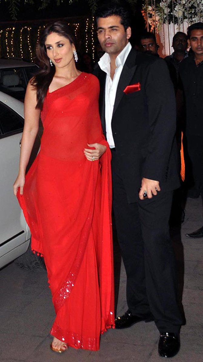 Kareena Kapoor with Karan Johar