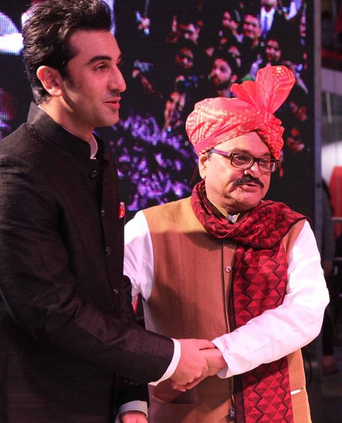 Ranbir Kapoor with Chhagan Bhujbal