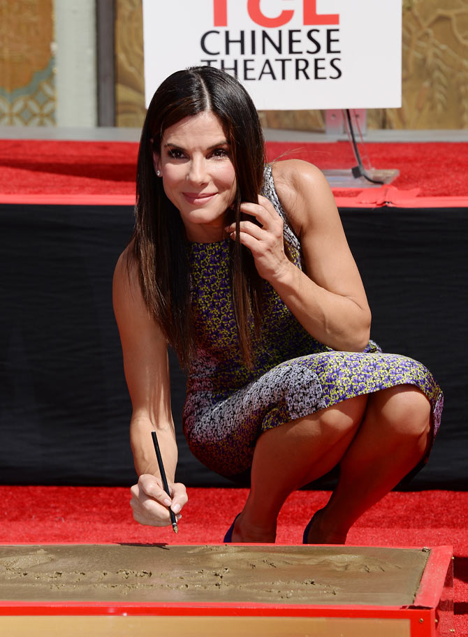 PIX: Sandra Bullock immortalised on Hollywood Walk of Fame ...