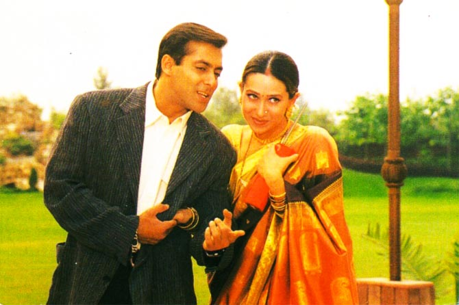 Salman Khan and Karisma Kapoor in Biwi No 1