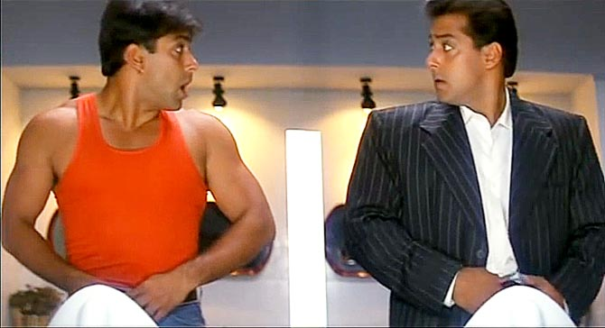 Salman Khan in a double role in Judwaa