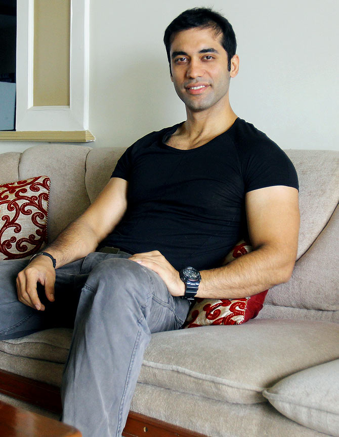 Kushal Punjabi at his home