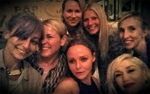 Clockwise from left: Nicole Richie, Chelsea Handler, Naomi Watts, Gwyneth Paltrow, Sam Taylor-Wood, Gwen Stefani and Steela McCartney