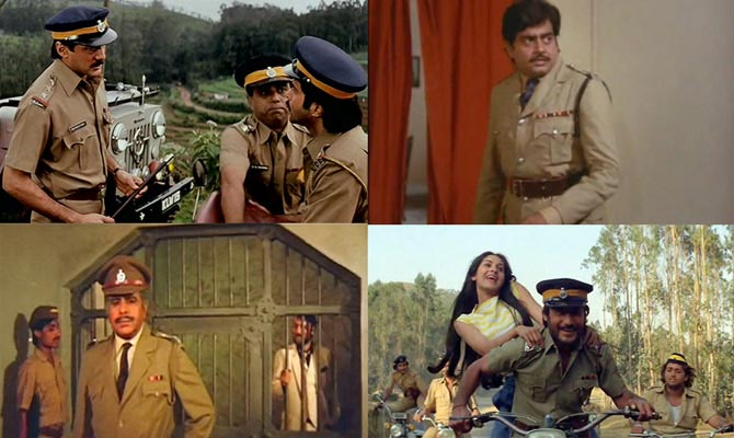 Scenes from Ram Lakhan, Kalicharan, Karma and Hero