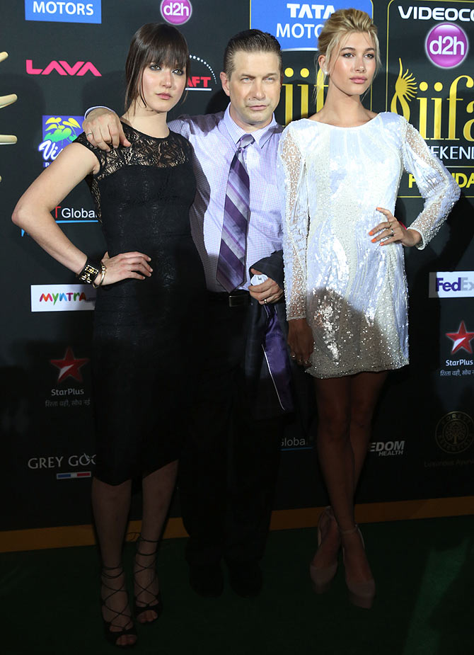 Stephen Baldwin with his daughters, Alaia and Hailey.