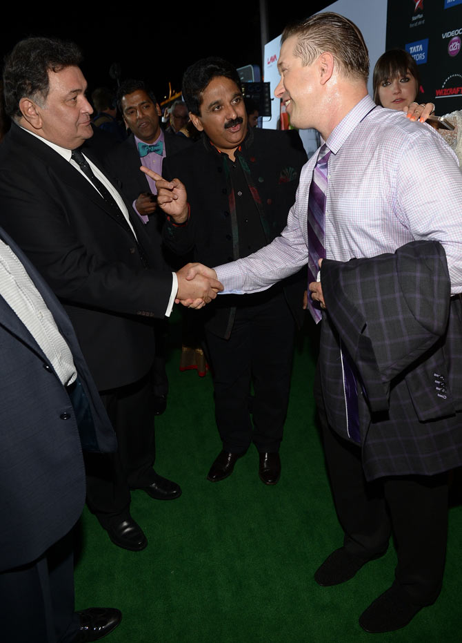 Rishi Kapoor and Stephen Baldwin