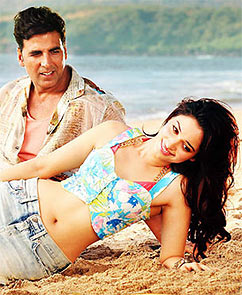 Akshay Kumar and Tamannaah in It's Entertainment