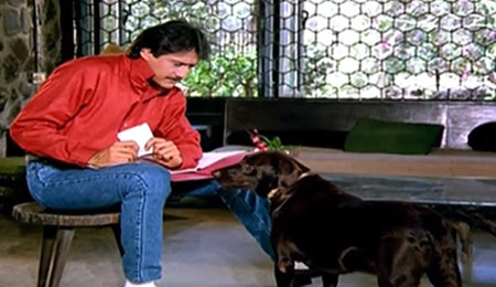 Jackie Shroff with Brownie in Teri Meherbaniyan