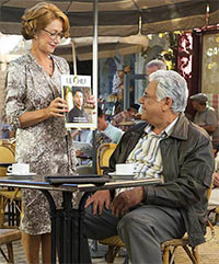 Helen Mirren and Om Puri in The Hundred-Foot Journey