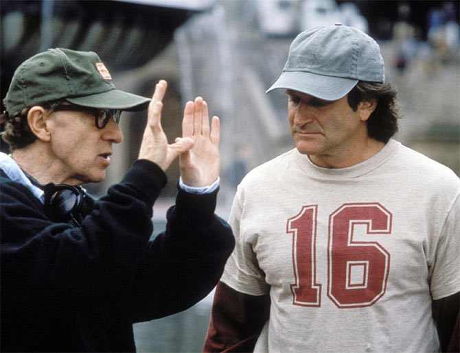 Woody Allen and Robin Williams in Deconstructing Harry
