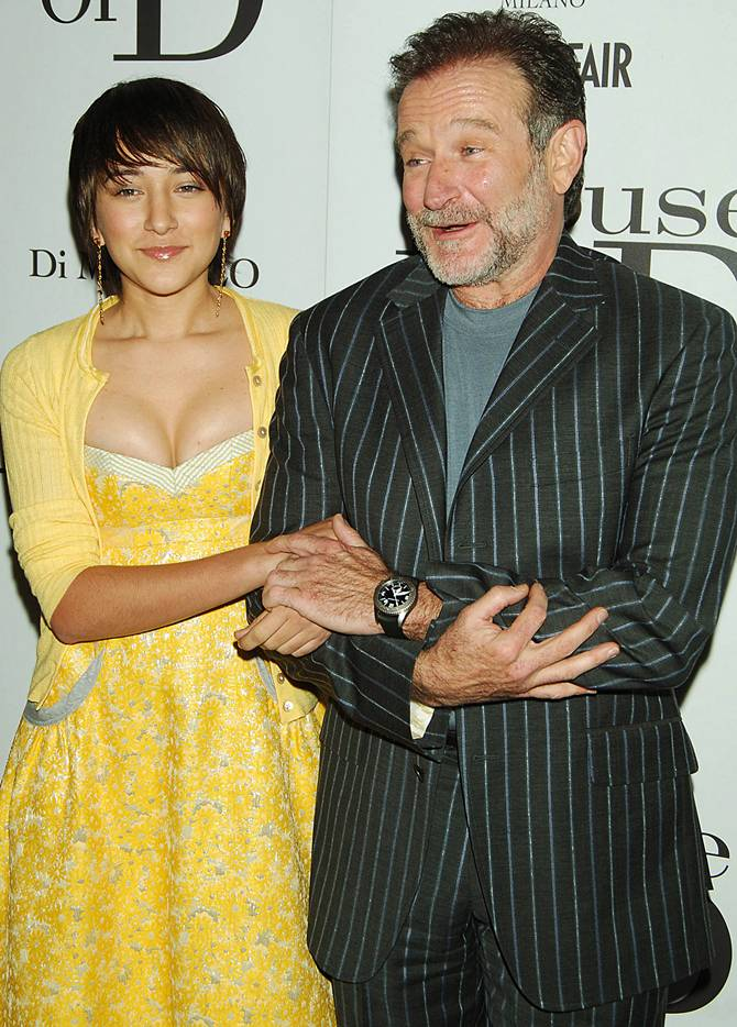 Robin Williams with daughter