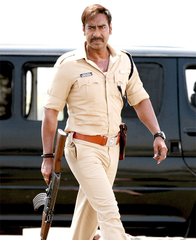Ajay Devgn in Singham Returns