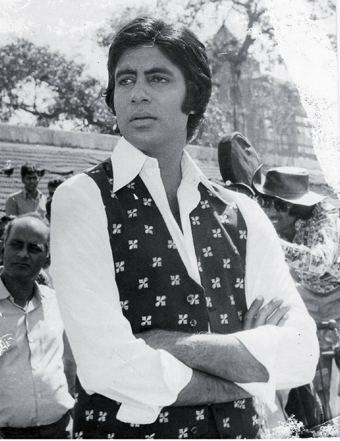 Amitabh Bachchan on the sets of Don