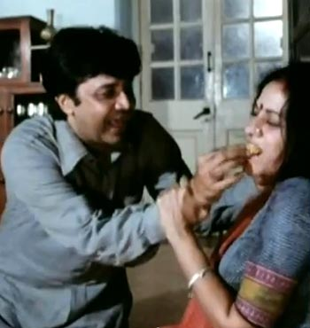 Deven Verma and Aruna Irani in Angoor