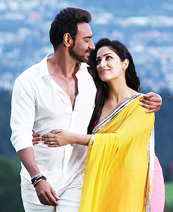 Ajay Devgn and Manasvi Mamgai in Action Jackson