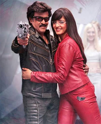 Rajinikanth and Anushka Shetty in Lingaa