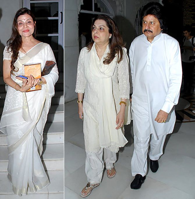Sapna Mukherjee, Pankaj Udhas and wife Farida