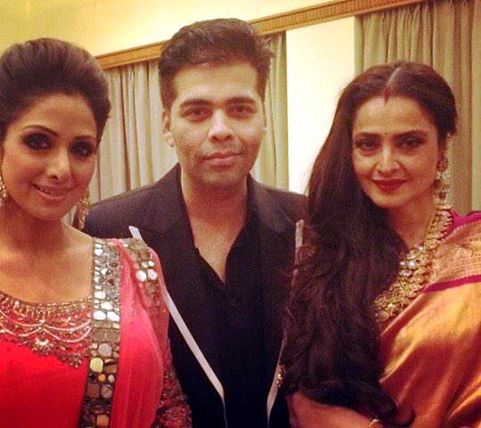 Sridevi, Karan Johar and Rekha