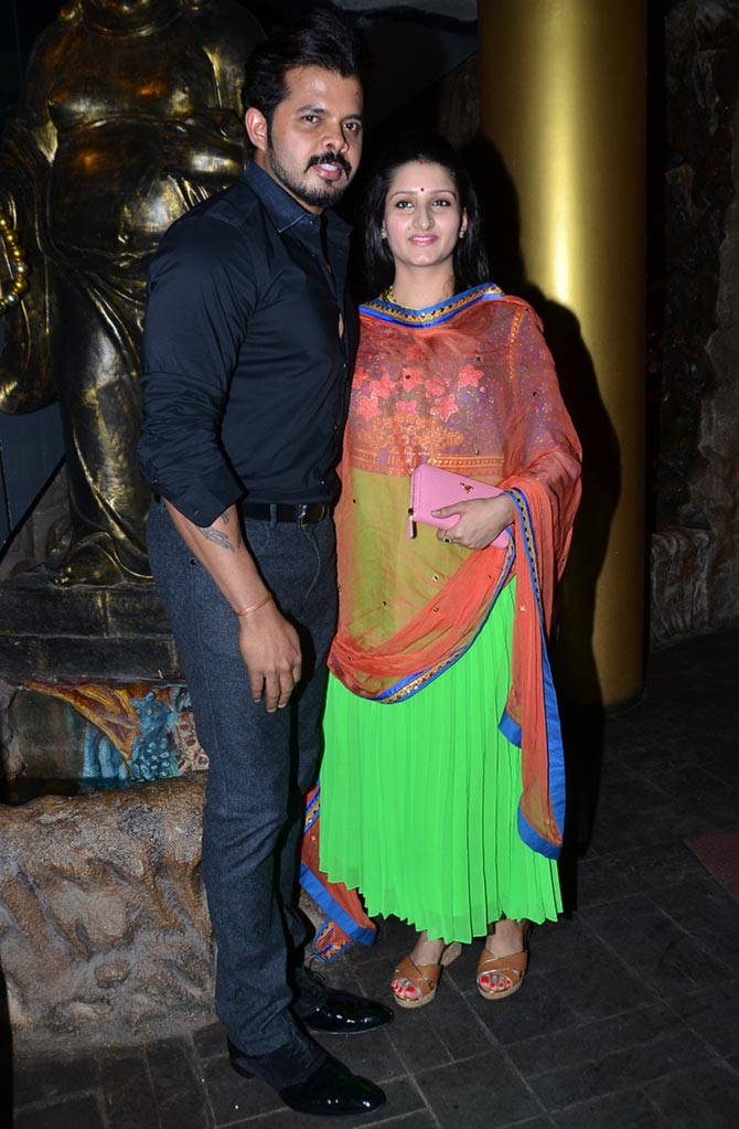 Sreesanth with wife Bhuvneshwari Kumari
