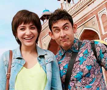Anushka Sharma and Aamir Khan in PK