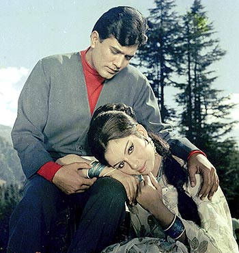 Rajesh Khanna and Sharmila Tagore in Aradhana