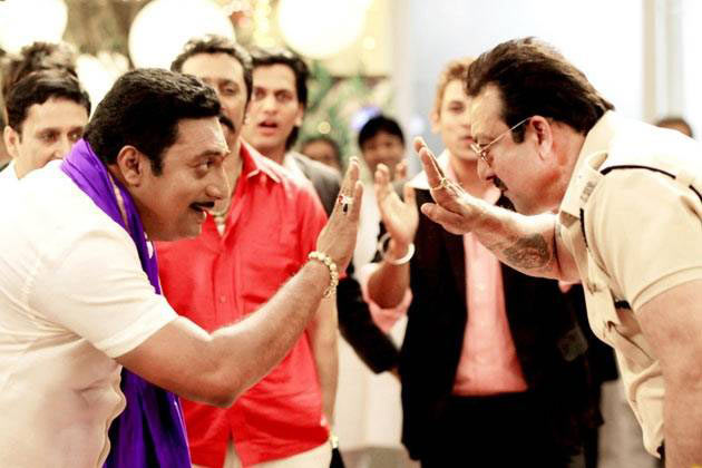 Prakash Raj and Sanjay Dutt in Policegiri