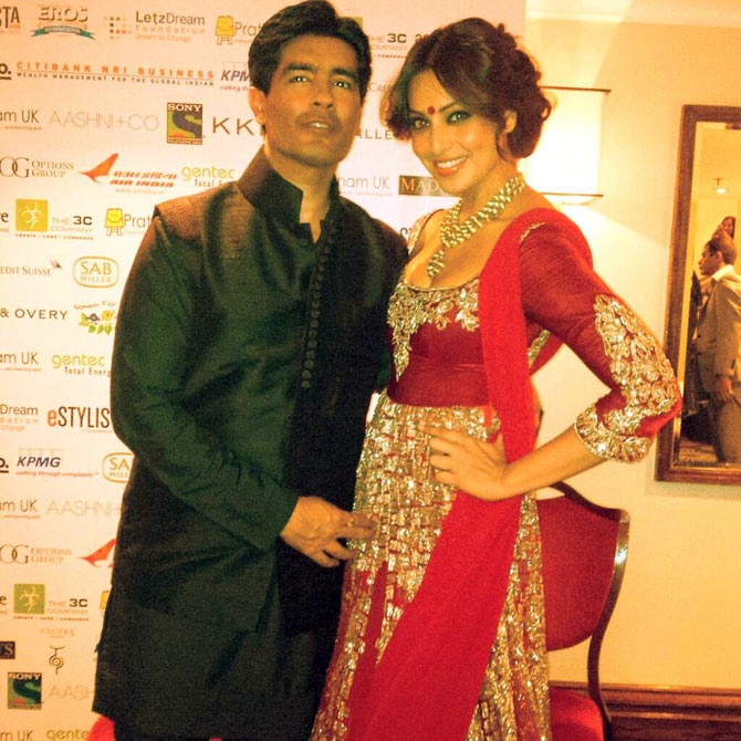Bipasha Basu with Manish Malhotra