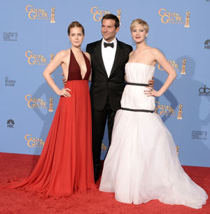 Amy Adams, Bradley Cooper and Jennifer Lawrence