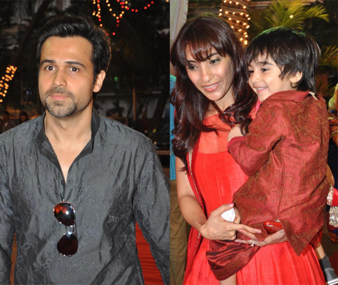 Emraan Hashmi with wife Parveen and son Ayaan
