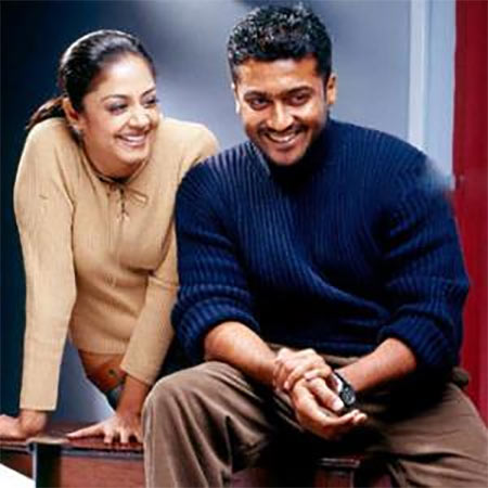 Suriya and Jyothika in Perazhagan