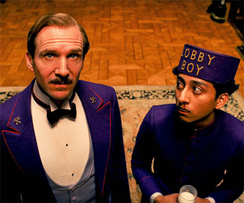 A scene from The Grand Budapest Hotel