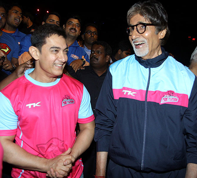 Aamir Khan and Amitabh Bachchan