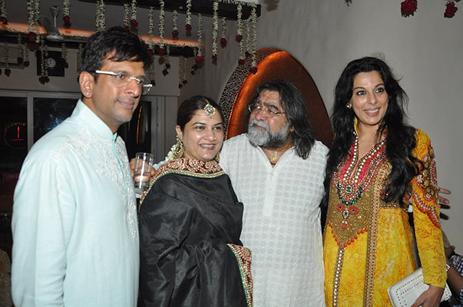 Prahlad Kakkad and Pooja Bedi