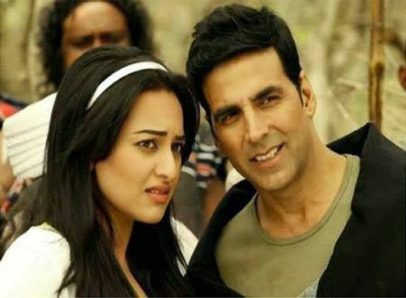 Sonakshi Sinha and Akshay Kumar in Holiday