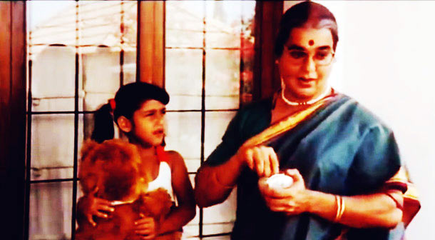 Kamal Haasan and Baby Sana in Chachi 420