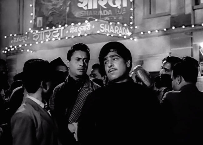 Dev Anand and Madan Puri in Kala Bazar