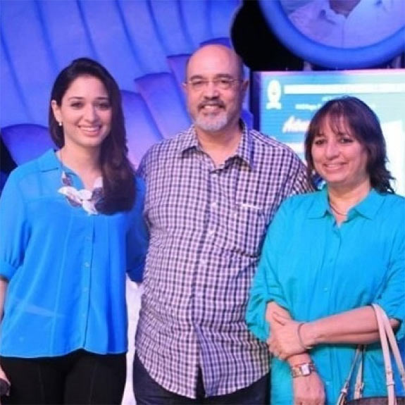 Tamannaah with her parents Santosh and Rajani Bhatia